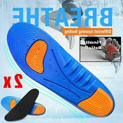 1 Pair Gel Orthotic Sport Running Insoles Insert Shoe Pad Ar