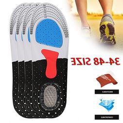 10 Colors Men Cushion Gel Orthotic Sport Running Insoles Ins