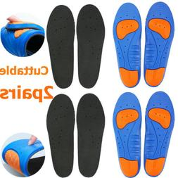 10x Gel Orthotic Sport Running Insoles Shoe Pad Inserts Arch
