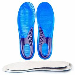 1Pair Gel Orthotic Arch Support Massaging Insoles Insert Spo