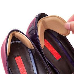 2x  Fabric Shoes Back Heel Inserts Insoles Pads Cushion Line