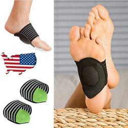 2X Heel Foot Pain Relief Plantar Fasciitis Insole Pads Arch