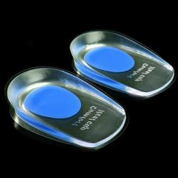 2x New Gel Shoes Insoles Cushion Heel Cup Massage Pads Inser