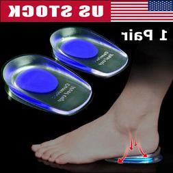 2x silicone gel heel cups insole shoe