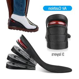 9CM Men Air Cushion Heel Shoe Insole Insert Increase Taller