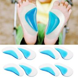 Arch Orthotic Support Insole Corrector Gel Pads Shoe Solicon
