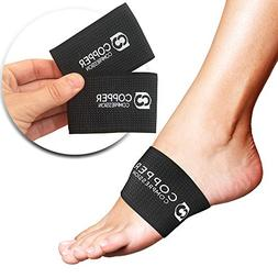 Copper Compression Arch Support - 2 Plantar Fasciitis Sleeve