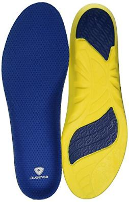 Sof Sole Athlete Performance Insoles - Blue/Yellow, Men's 11