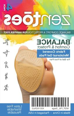 ZenToes Ball of Foot Cushions Metatarsal Fabric Covered Gel