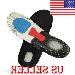 Cushion Foot Care Shoes Insert Pad Sole Insole Men Silicone