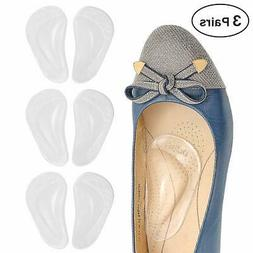 Dr. Foot's Arch Support Shoe Insoles for Flat Feet, Gel Arch