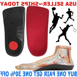 Feet Orthotic Shoe Insoles High Arch Support Inserts Plantar