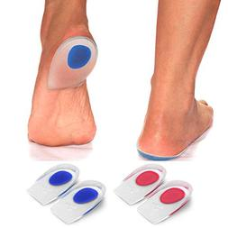 Best Gel Heel Cups - Pair of Heel Cushion Shoe Inserts. Foot