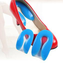 Gel Shoes Insoles Cushion Heel Cup Massage Pads Inserts Heel