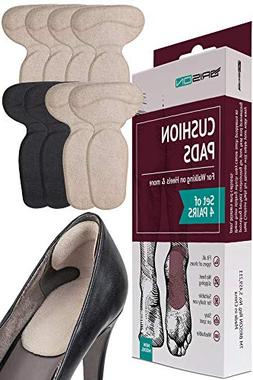 Heel Cushion Pads for Women and Men - 4 Pairs - Comfortable
