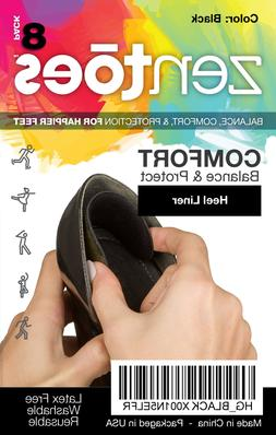 ZenToes Heel Protector Liners Back of Shoes Cushioned Adhesi