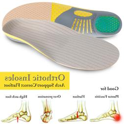 High Arch Heel Support Orthotic Shoe Insoles Inserts Flat Fe