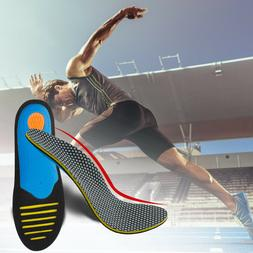 High Arch Orthotic Support Shoe Insoles Inserts Pads Flat Fe