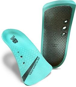 New Balance Insoles 3715 3/4 Arch Stability Shoe, Teal, Medi