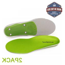 Superfeet Insoles Orthotics Shoe Inserts,Green,Sizes - B,C,D