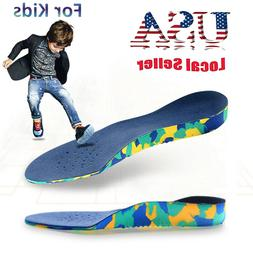 Kids Children Flat Feet Arch Support Insoles Orthotic Orthop
