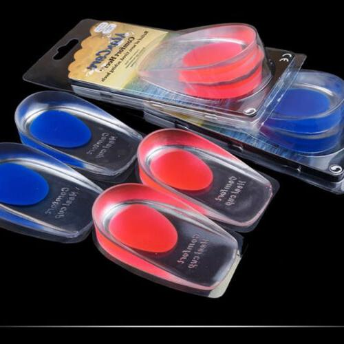 1pair gel shoes insoles cushion heel cup