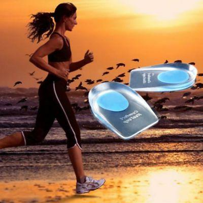 2X Gel Cups Insole Shoe Silica For Plantar Fasciitis