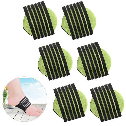 6×Heel Foot Pain Relief Plantar Fasciitis Insole Pads Arch