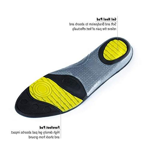 for Mens Womens, Shoe Sole Inserts Neutral Sports Performance Gel Shoe Insert,