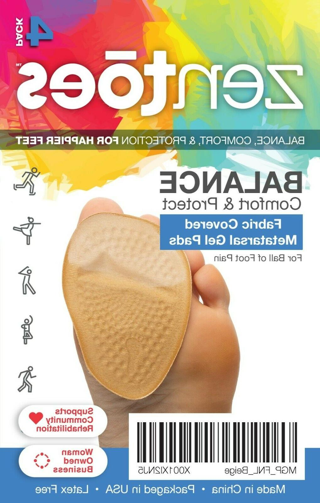 ball of foot cushions metatarsal fabric covered