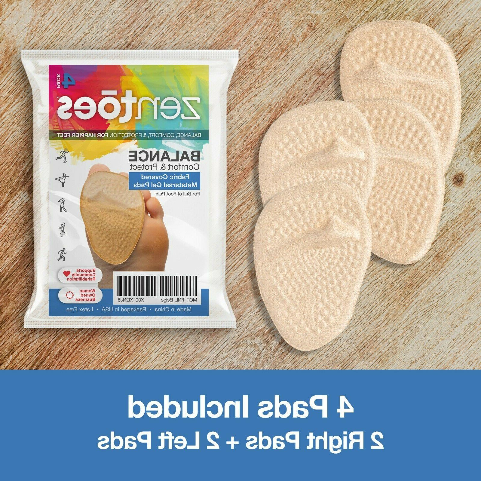 ZenToes of Foot Cushions Metatarsal Gel Inserts Pads