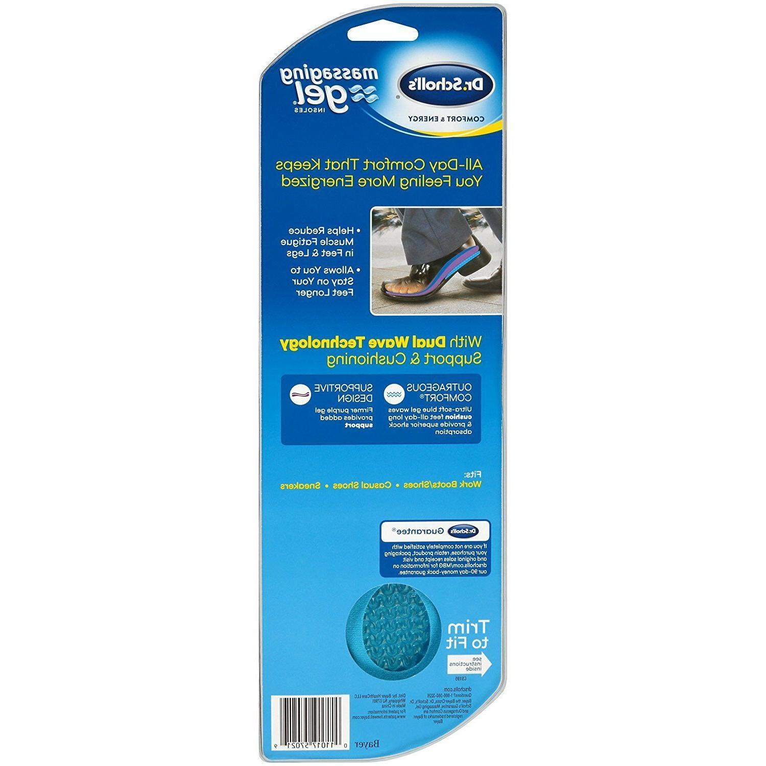 Dr. Scholl's Comfort and Energy Massaging Insoles for 1 Size 8-14