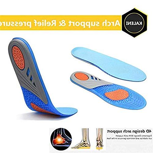 Comfort Orthotic for & Length Plantar Fasciitis Inserts with Arch Support Relieve Feet, Pain,Supination