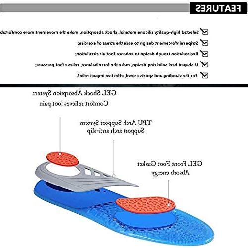 Comfort Gel Shoe & Full Plantar with Arch Flat Feet, Pain,Supination