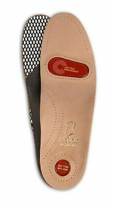 Full Length Orthotic Shoe Insoles Inserts Leather Arch Suppo