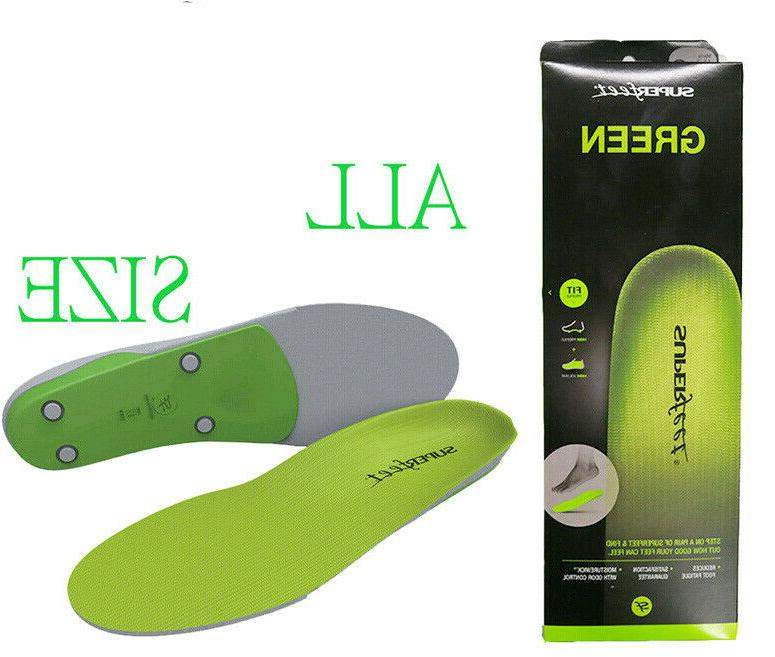 green insoles orthotics shoe inserts all sizes
