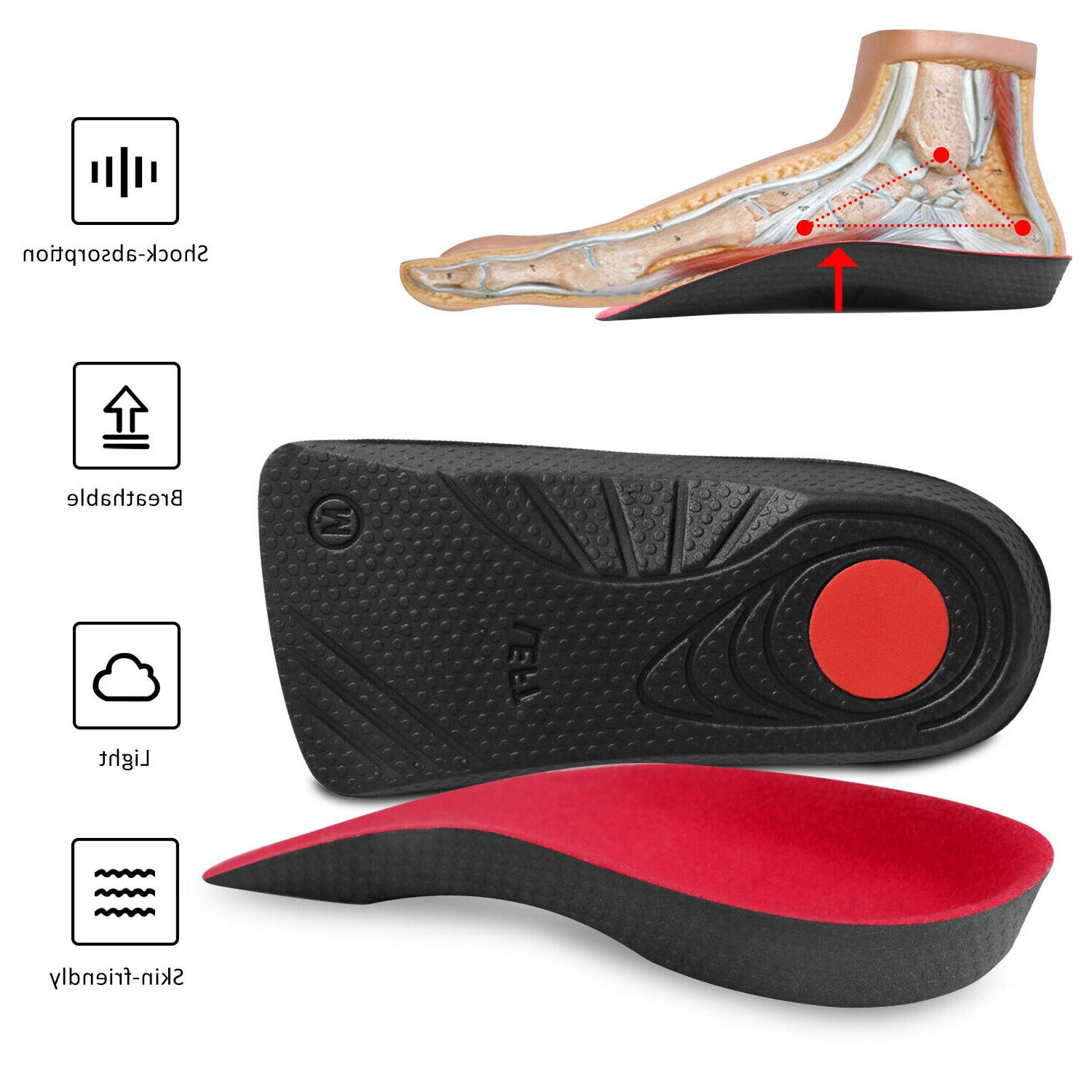 high arch support orthotic shoe insoles inserts