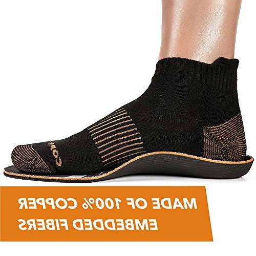 CopperJoint - Insoles, Moisture Inserts Offer Firm Arch Support Foot Pair