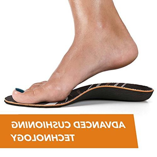 CopperJoint Copper-Infused Insoles, Wicking Shoe Inserts Offer Firm Arch Support Foot