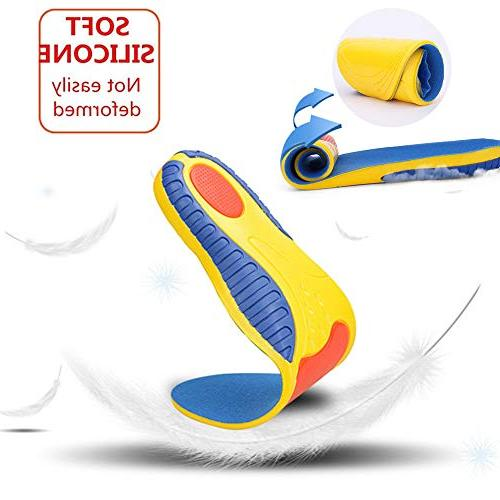 Insoles for Fasciitis - Arch Support Orthotics for & Women, Shoe for Relief Flat Orthopedic Functional Foam Insoles