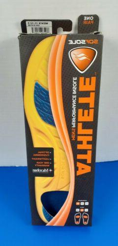 Sof Sole Insoles Men's ATHLETE Performance Full-Length Gel S