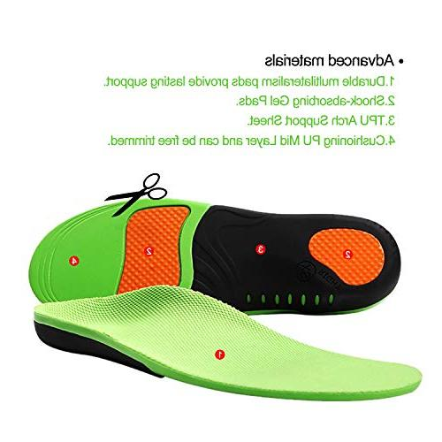 Snapsmile Fasciitis Inserts Support Inserts Man Doctor Orthotic for Fasciitis High Gel Feel Insoles,XS