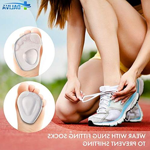 DALIVA Pad - Ball of Foot Cushions - Cushion Neuroma Metatarsal Foot Pads - Gel Foot Cushion for Heels Inserts for Women