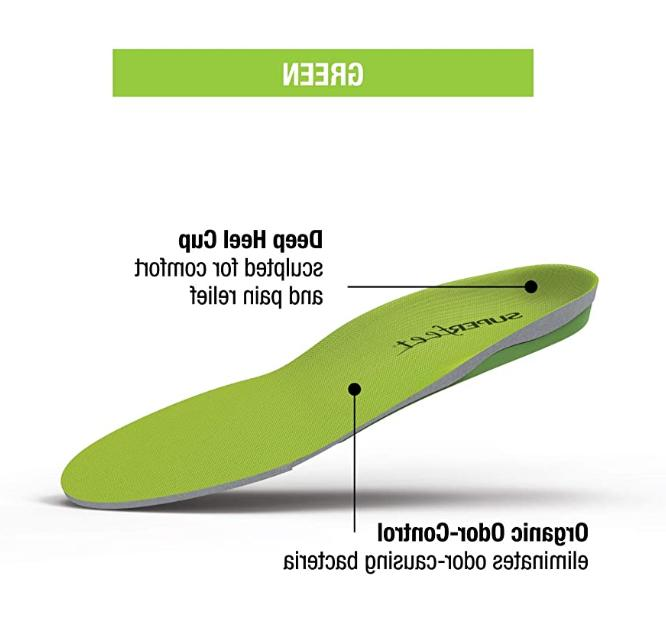 New! Superfeet Green Insole Support Orthotic Shoe Insert