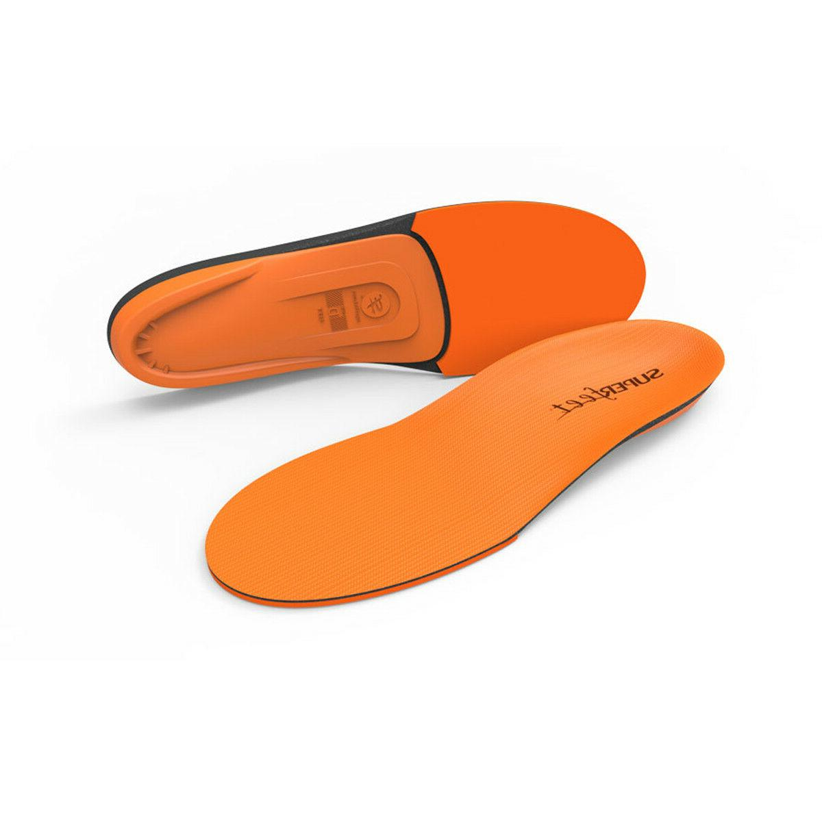 new orange insole arch support orthotic shoe