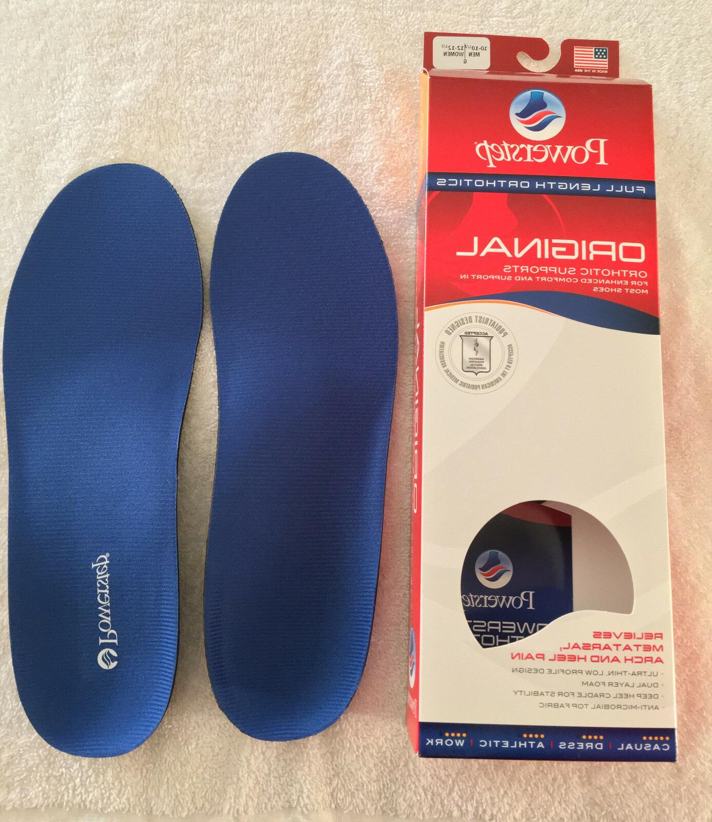 POWERSTEP ORIGINAL Orthotic Supports Length Inserts 5001