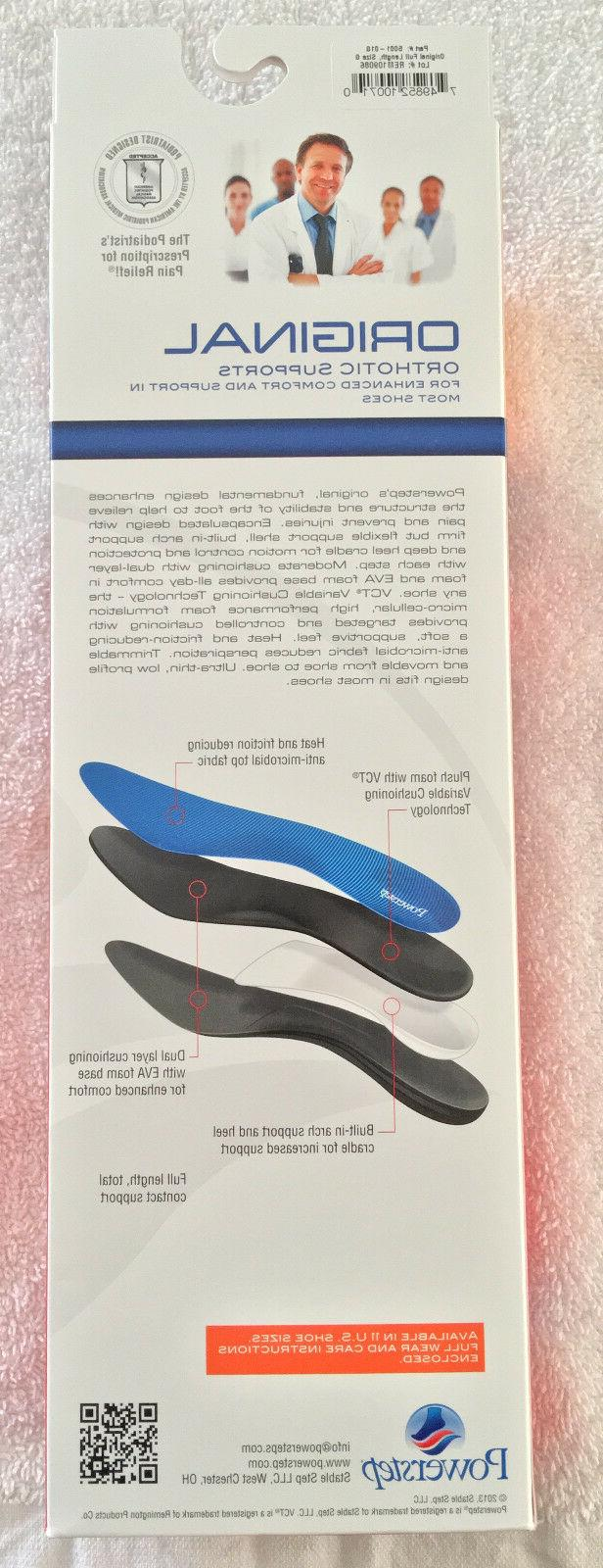 POWERSTEP Orthotic Supports Length