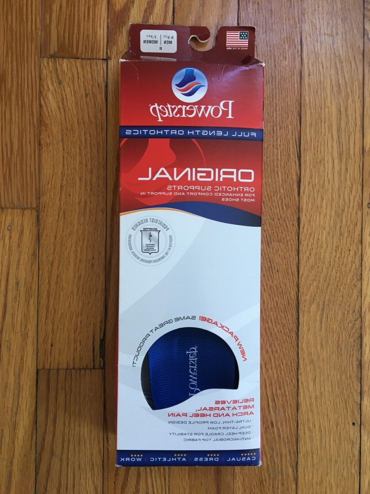 original shoe insoles orthotic supports full length