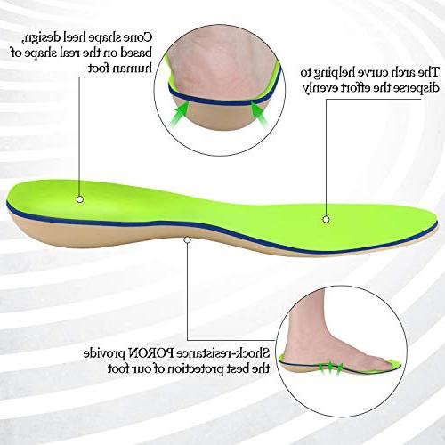 Everhealth Orthotic Insoles Shoe with Bacteria-Killing Tech, Premium for Comfort Arch Support & Deep Heel for Pain