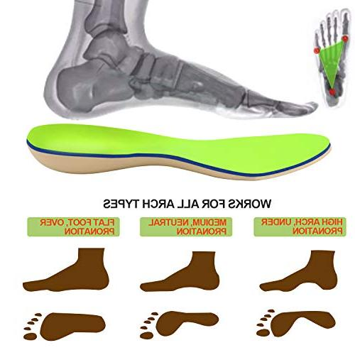 Everhealth & Insoles Bacteria-Killing Premium PORON for Arch & Heel Cup for Pain